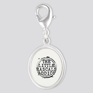 The Little Rascals Addict Silver Oval Charm