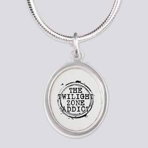 The Twilight Zone Addict Silver Oval Necklace