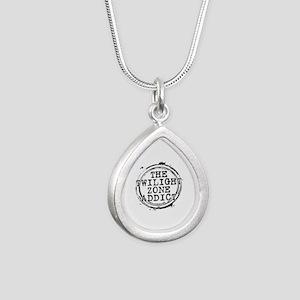 The Twilight Zone Addict Silver Teardrop Necklace