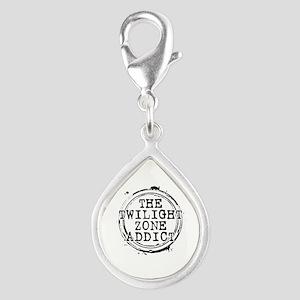 The Twilight Zone Addict Silver Teardrop Charm
