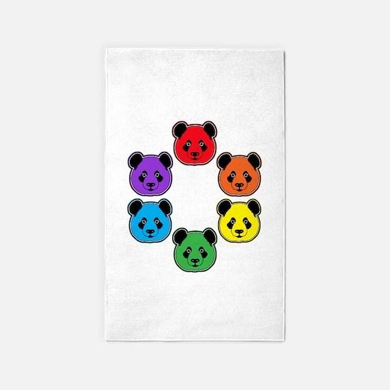 all bear hexagon 3'x5' Area Rug