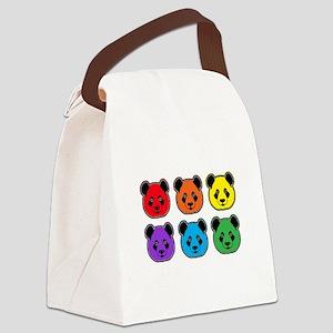 all bear 2 rows Canvas Lunch Bag