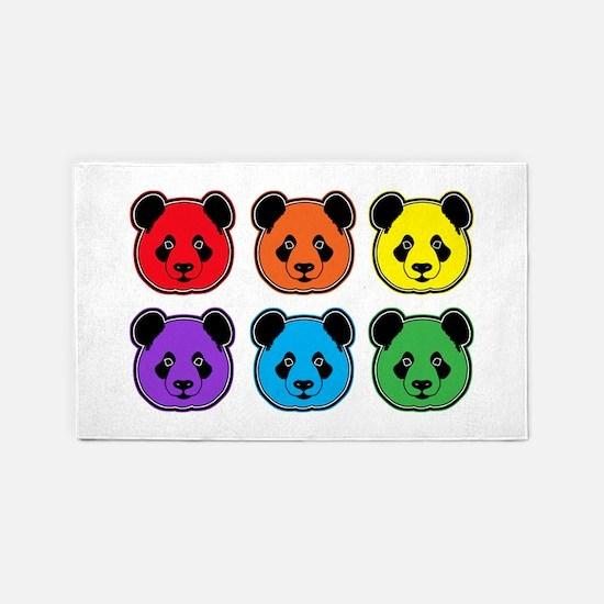 all bear 2 rows 3'x5' Area Rug