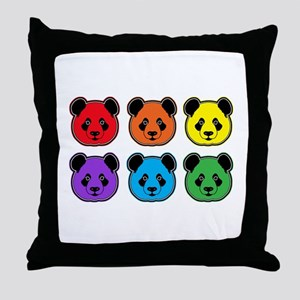 all bear 2 rows Throw Pillow