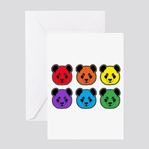all bear 2 rows Greeting Card