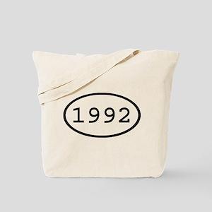 1992 Oval Tote Bag
