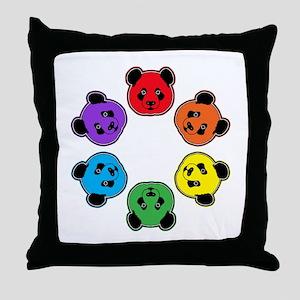 all bear hexagon Throw Pillow