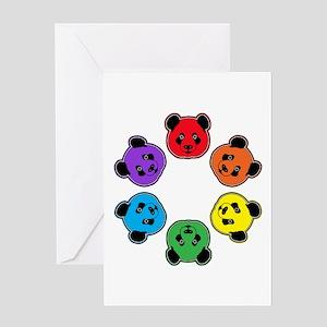 all bear hexagon Greeting Card