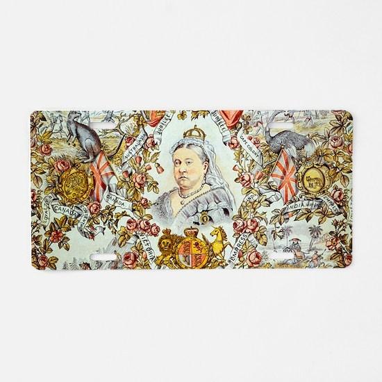 Queen Victoria Jubilee Aluminum License Plate