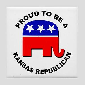 Proud Kansas Republican Tile Coaster