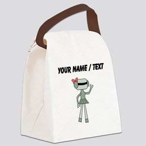 Custom Robot Girl Canvas Lunch Bag