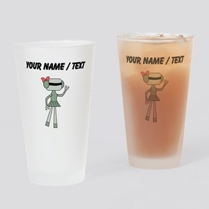 Custom Robot Girl Drinking Glass