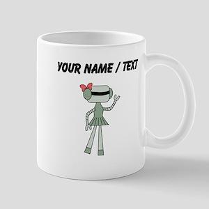 Custom Robot Girl Mugs