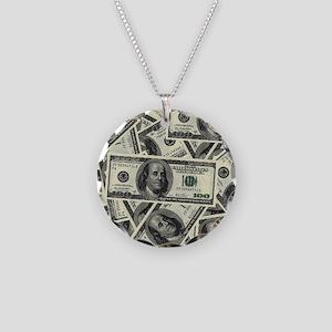 Big Bucks Necklace Circle Charm