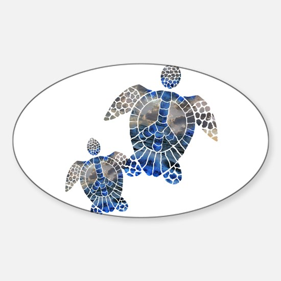 Peace Turtles Decal