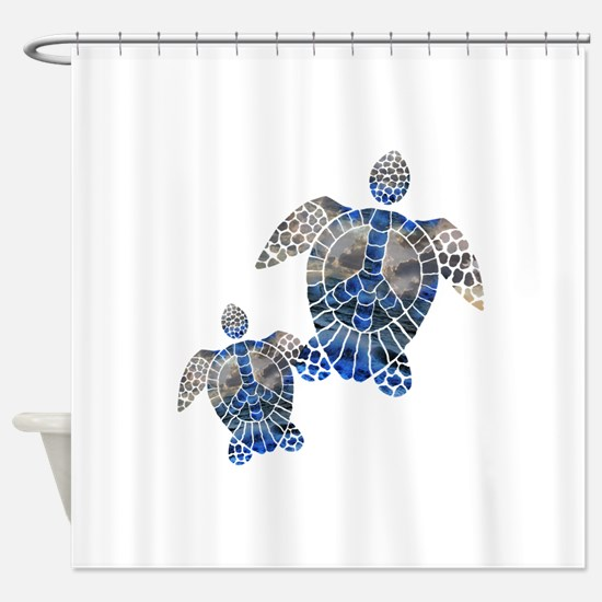 Peace Turtles Shower Curtain