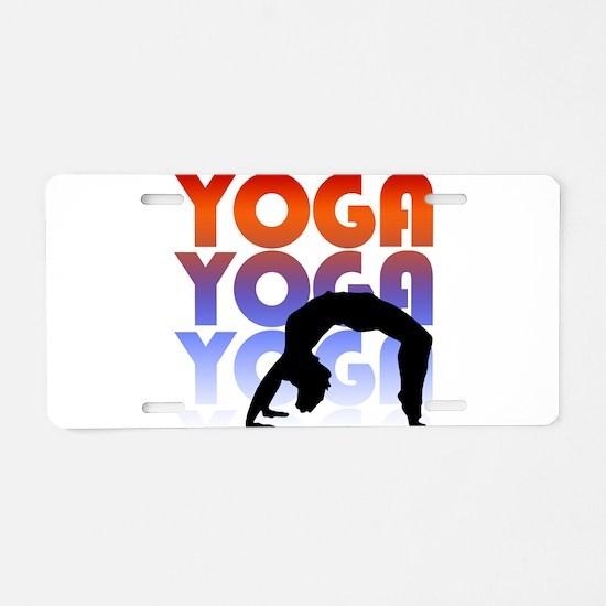 yoga.png Aluminum License Plate
