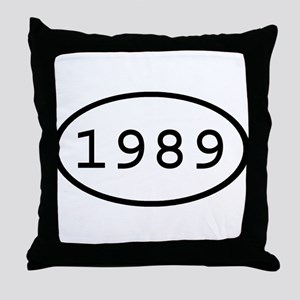 1989 Oval Throw Pillow
