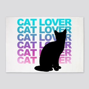 cat lover 5'x7'Area Rug
