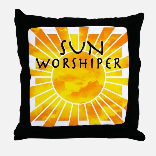 sun worship.png Throw Pillow