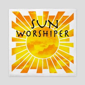 sun worship Queen Duvet