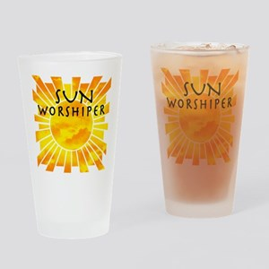 sun worship Drinking Glass