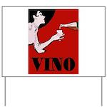 Vino Vintage Lady Yard Sign