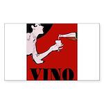 Vino Vintage Lady Sticker