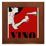 Vino Vintage Lady Framed Tile