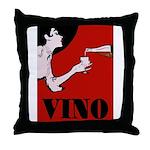 Vino Vintage Lady Throw Pillow