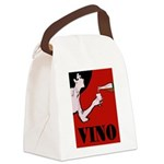 Vino Vintage Lady Canvas Lunch Bag