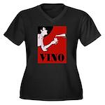 Vino Vintage Lady Plus Size T-Shirt