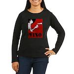 Vino Vintage Lady Long Sleeve T-Shirt