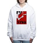 Vino Vintage Lady Women's Hooded Sweatshirt