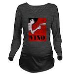 Vino Vintage Lady Long Sleeve Maternity T-Shirt