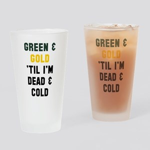 Green Gold Drinking Glass