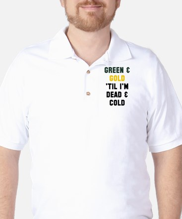 Green Gold Golf Shirt