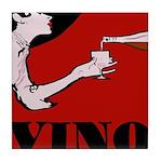 Vino Vintage Lady Tile Coaster