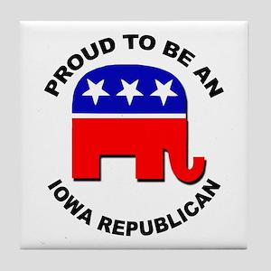 Proud Iowa Republican Tile Coaster