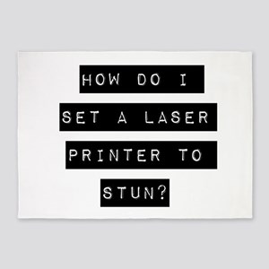 How Do I Set A Laser Printer To Stun 5'x7'Area Rug