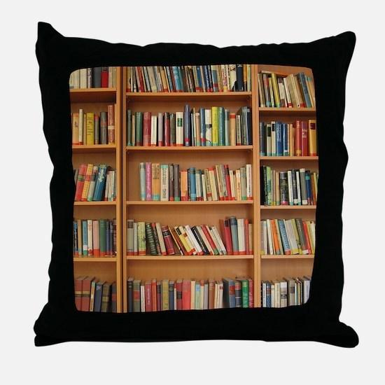 Cool Bookworm Throw Pillow