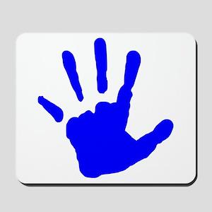 Blue Handprint Mousepad