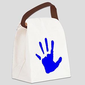 Blue Handprint Canvas Lunch Bag