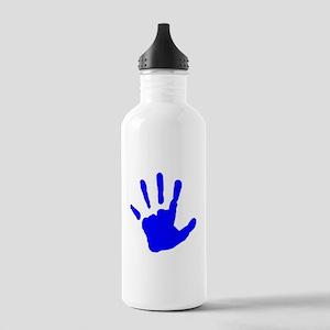 Blue Handprint Water Bottle
