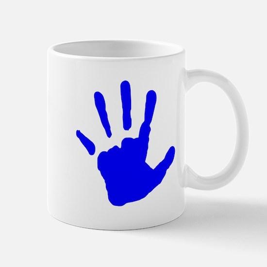 Blue Handprint Mugs