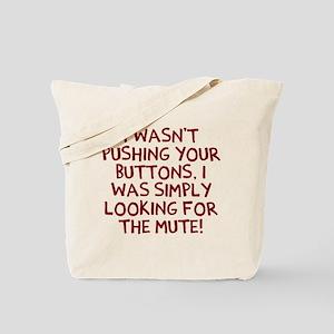 Mute button Tote Bag