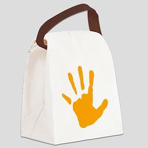 Orange Handprint Canvas Lunch Bag