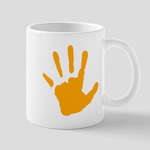 Orange Handprint Mugs