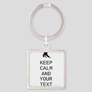 Keep Calm Dance Couple - Customize Keychains