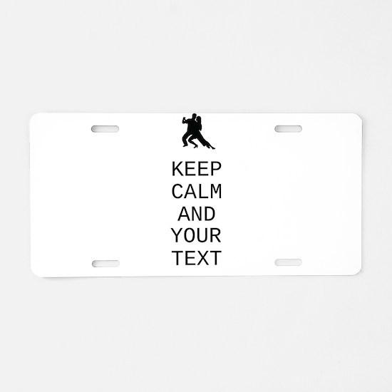 Keep Calm Dance Couple - Customize Aluminum Licens